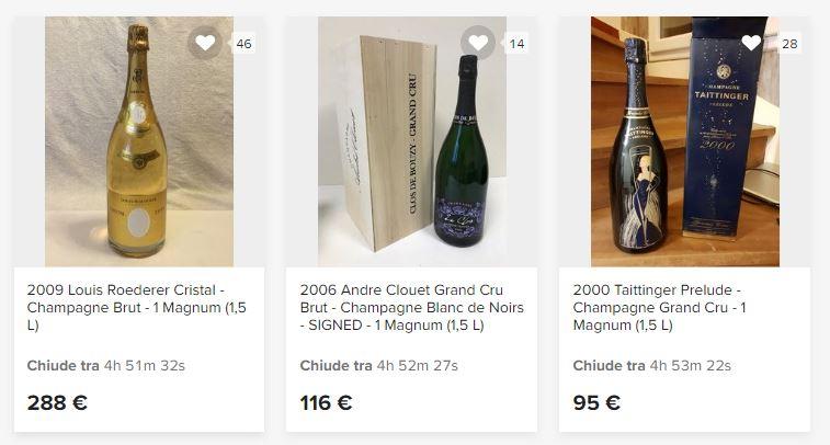 Champagne da collezione in vendita online