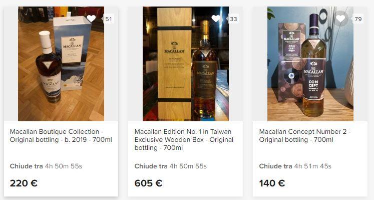 Whisky da collezione e investimento: aste online