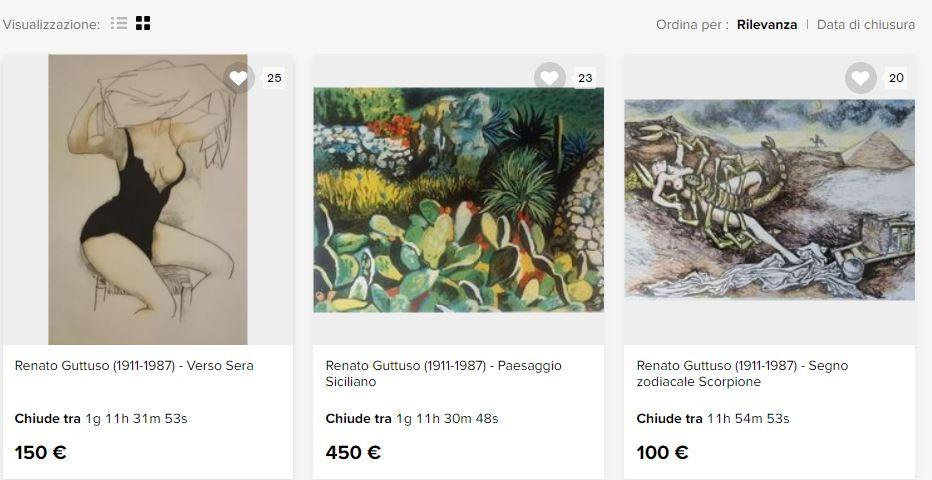 Litografie di Guttuso in vendita online